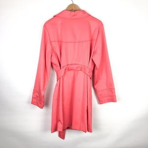 Lane Bryant Jackets & Coats - Lane Bryant Bright Coral Belted Trench Coat NWT